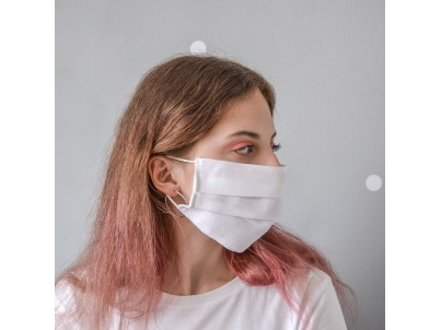 Маска для лица гигиеническая белая (упак. 10 штук)