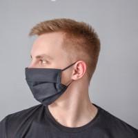 Маска для лица гигиеническая черная (упак. 10 штук)