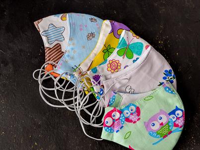 Детские защитные маски из ткани