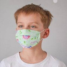 Маска для лица гигиеническая бирюзовая детская (упак. 10 штук)